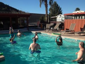 Volleyball in Swimming Pool